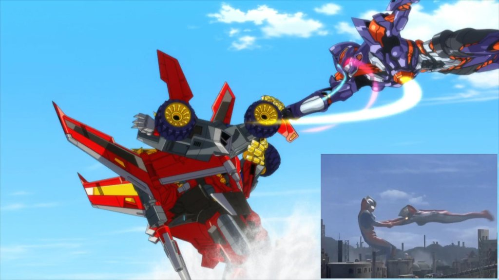 SSSS.Dynazenon 07 - Reference - SSSS.Dynazenon and Gridknight (Ultraman Dyna and Ultraman Tiga) 02
