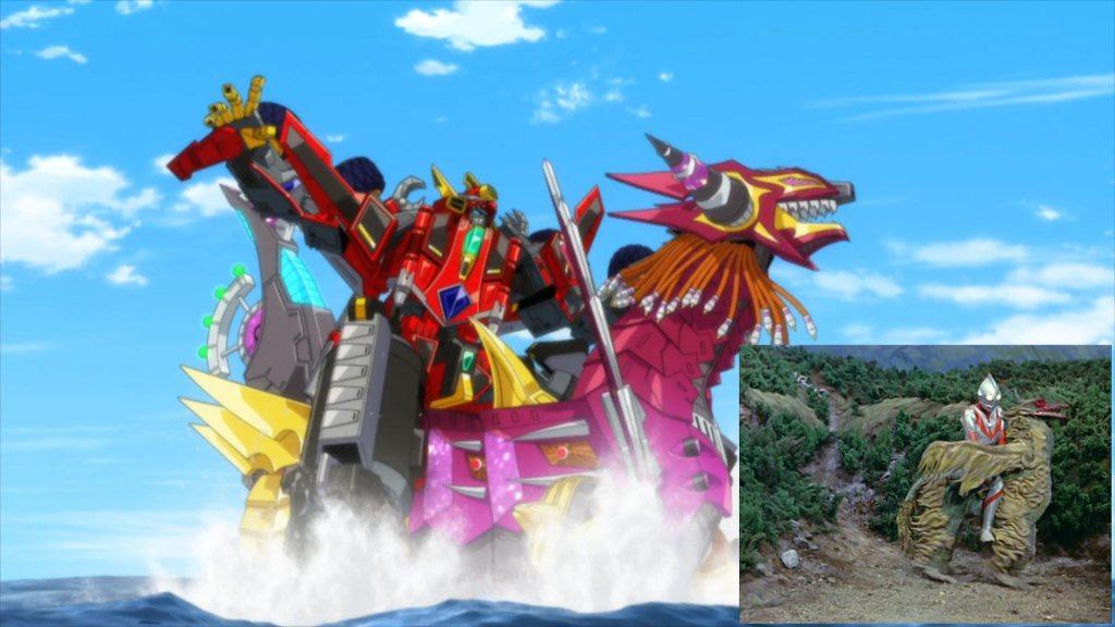 SSSS.Dynazenon 07 - Reference - SSSS.Dynazenon vs Bullbind (Ultraman vs Dodongo)
