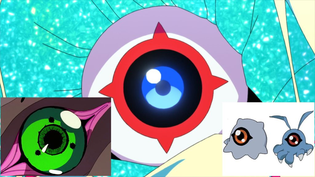 SSSS.Dynazenon 08 - Reference - Occhio Kaiju (Eva 01, Kuramon, Tsumemon)